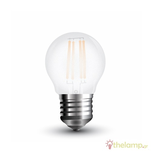 Led γλομπάκι filament G45 4W E27 240V frost cover day light 6400K 4497 VT-1974 V-TAC