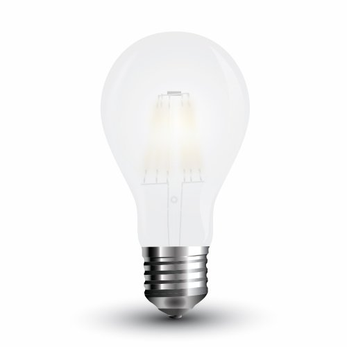Led κοινή filament A60 4W E27 220-240V frost cover warm white 2700K VT-1934 4486 V-TAC