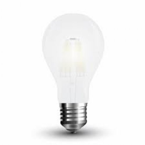 Led κοινή filament A60 4W E27 220-240V frost cover day light 6400K VT-1934 4488 V-TAC