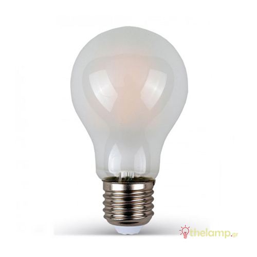 Led κοινή filament A60 4W E27 220-240V frost cover day light 6400K 4488 VT-1934 V-TAC