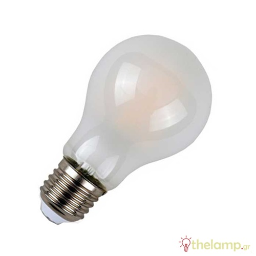 Led κοινή filament A60 6W E27 220-240V frost cover day light 6400K 4482 VT-1935 V-TAC