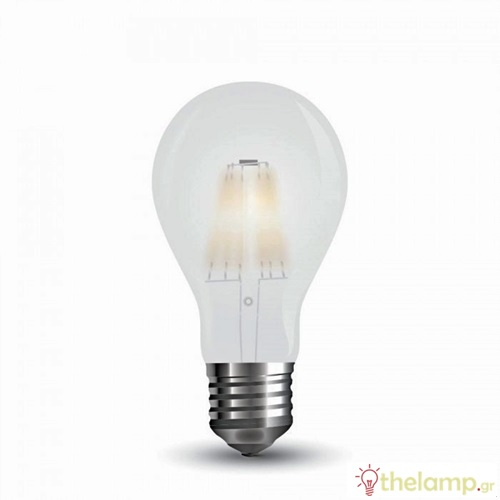 Led κοινή filament A60 5W E27 220-240V frost cover day light 6400K 7180 VT-2045 V-TAC