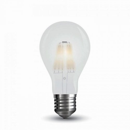 Led κοινή filament A60 7W E27 220-240V frost cover cool white 4000K 7182 VT-2047 V-TAC