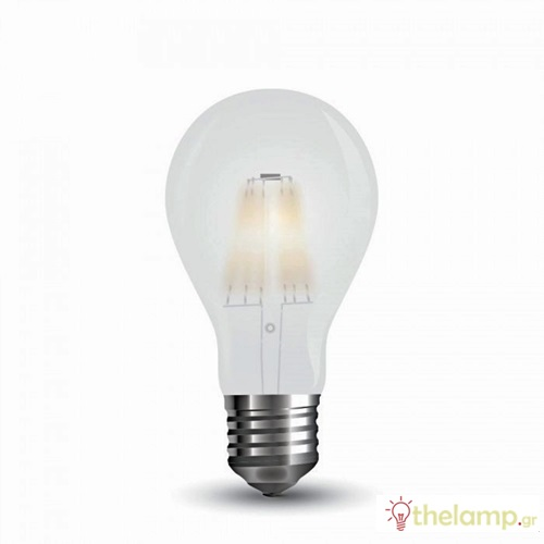 Led κοινή filament A60 7W E27 220-240V frost cover day light 6400K 7183 VT-2047 V-TAC