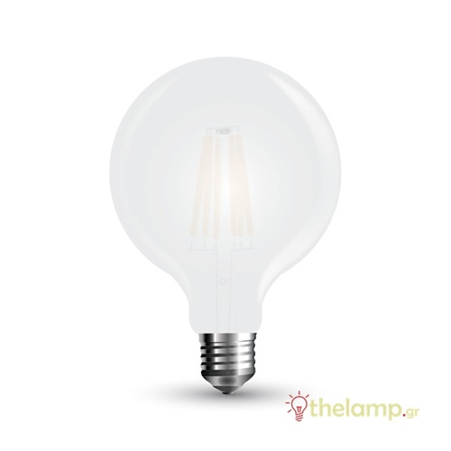 Led γλόμπο filament G125 7W E27 240V frost cover warm white 2700K 7189 VT-2067 V-TAC