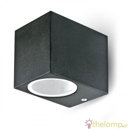 Φωτιστικό τοίχου εξωτερικού χώρου τετράγωνο μαύρο GU10 7510 VT-7651 V-TAC