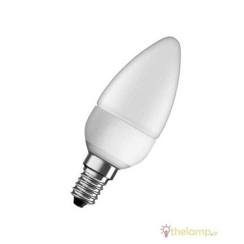 Led κερί B40 5.7W E14 240V warm white 2700K value Osram