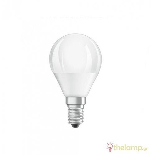 Led γλομπάκι P45 5.7W E14 240V warm white 2700K value Osram