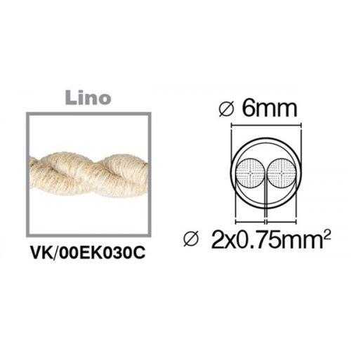 Καλώδιο υφασμάτινο πλεξούδα λινό 2x0.75mm 00EK030C