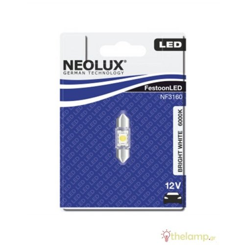 Led αυτοκινήτου 12V 0.5W SV8.5-8 day light 6000K NF3160 Neolux