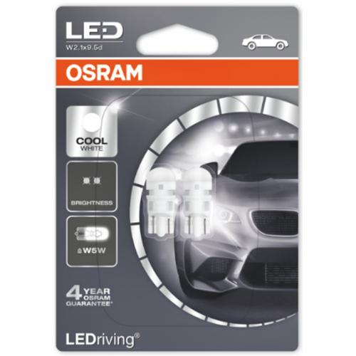 Osram Led 12V 1W W2.1x9.5d W5W day light 6000K LEDriving Standard DUO Blister 2880CW-02B