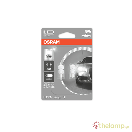 Osram Led 12V 1W W2.1x9.5d W5W day light 6000K LEDriving Standard DUO blister 2880CW-02B