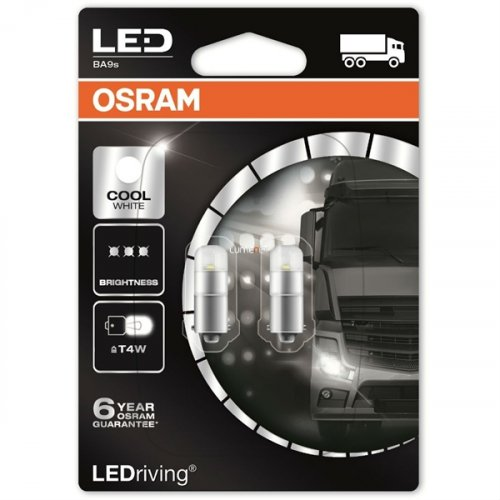 Osram Led 24V 1W BA9S T4W day light 6000K LEDriving Premium DUO Blister 3924CW-02B