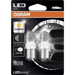 Osram 12V 2W BA15s P21W κίτρινο LEDriving Premium DUO blister 7556YE-02B