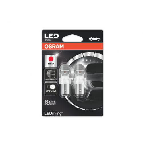 Osram Led 12V 2W BAY15d P21/5W κόκκινο LEDriving Premium DUO blister 1557R-02B