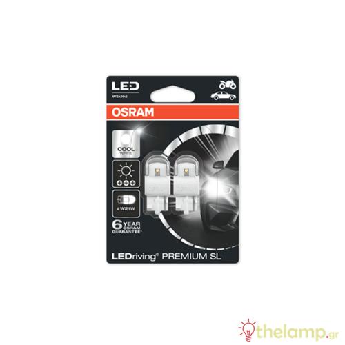 Osram Led 12V 1.5W W3x16d W21W day light 6000K LEDriving Premium DUO blister 7905CW-02B