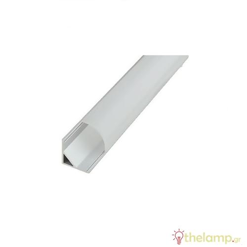 Κάλυμμα για προφίλ αλουμινίου γωνιακό 2m λευκό μάτ IP20 Φos_me