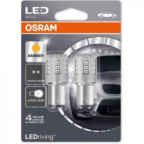 Osram 12V 2/0.4W BAY15d P21/5W κίτρινο LEDriving Standard DUO blister 1457YE-02B