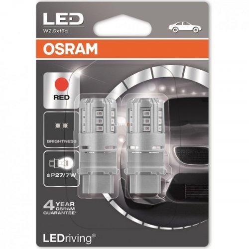 Osram Led 12V 3W W2.5x16q P27/7W κόκκινο LEDriving Standard DUO blister 3547R-02B