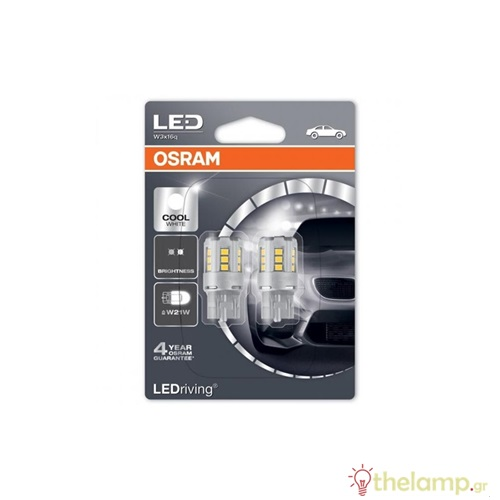 Osram Led 12V 2.5W W3x16d W21W day light 6000K LEDriving Standard DUO blister 7705CW-02