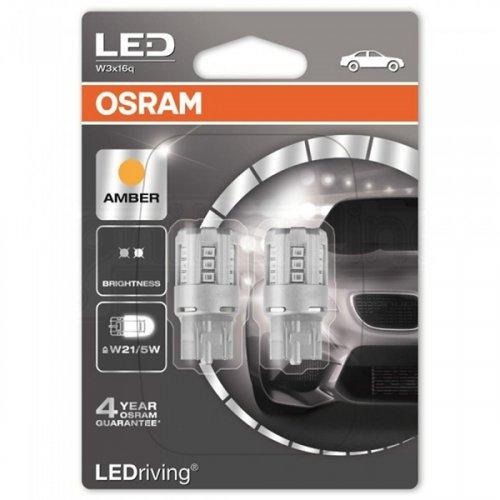 Osram Led 12V 1W W3x16q W21/5W κίτρινο LEDriving Standard DUO blister 7715YE-02B