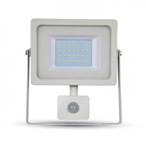 Προβολέας led 30W 230V 100° warm white 3000Κ λευκός με αισθητήρα κίνησης 5822 VT-4933 V-TAC