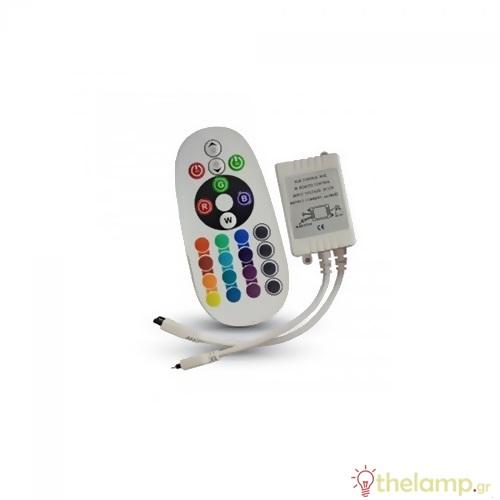 Controller για led ταινία με τηλεχειριστήριο 12V/24V 6A 72W 3625 VT-2472 V-TAC