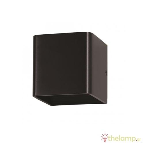 Led φωτιστικό τοίχου 5W 110-240V 120° cool white 4000K μαύρο 7094 VT-758 V-TAC