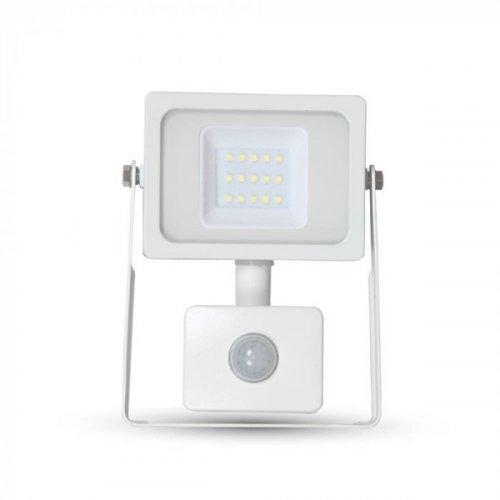 Προβολέας led 10W 230V 100° cool white 4000Κ λευκός με αισθητήρα κίνησης 5787 VT-4911 V-TAC