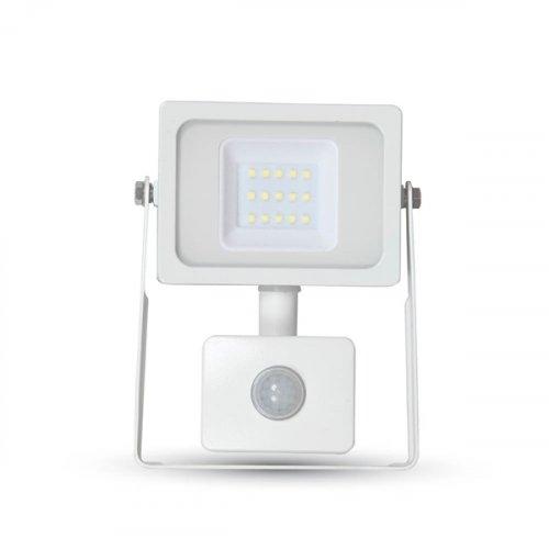 Προβολέας led 10W 230V 100° warm white 3000Κ λευκός με αισθητήρα κίνησης 5786 VT-4911 V-TAC