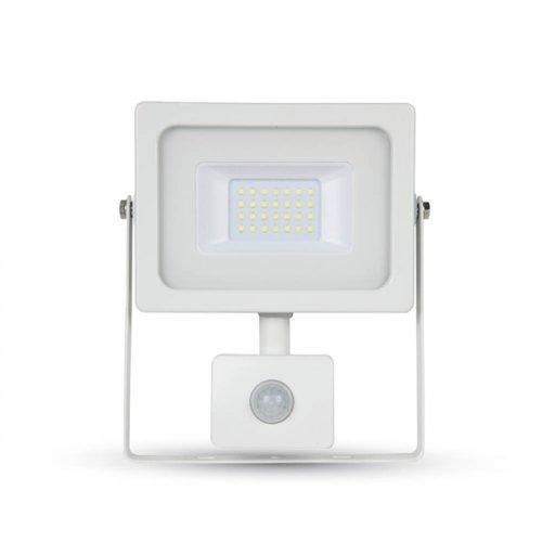Προβολέας led 10W 230V 100° white 6400Κ λευκός με αισθητήρα κίνησης 5788 VT-4911 V-TAC