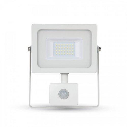 Προβολέας led 20W 230V 100° cool white 4000Κ λευκός με αισθητήρα κίνησης 5805 VT-4922 V-TAC
