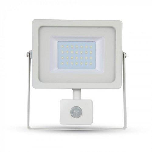 Προβολέας led 30W 230V 100° day light 6400K λευκός με αισθητήρα κίνησης 5824 VT-4933 V-TAC