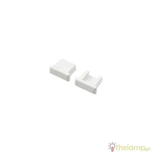 Τερματική τάπα χωρίς τρύπα για προφίλ αλουμινίου IP20 Φos_me