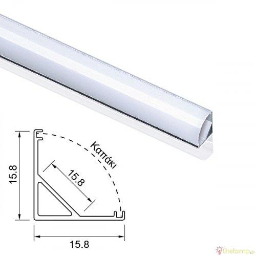 Μεταλλική βάση για προφίλ αλουμινίου IP20 Φos_me