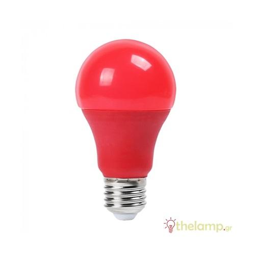 Led κοινή A60 9W E27 220-240V κόκκινη 7341 VT-2000 V-TAC