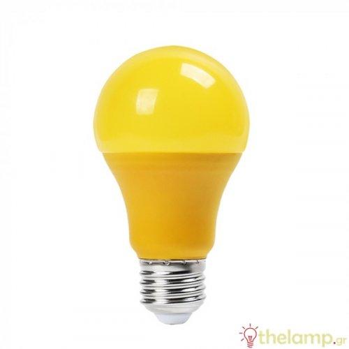 Led κοινή A60 9W E27 220-240V κίτρινη 7342 VT-2000 V-TAC