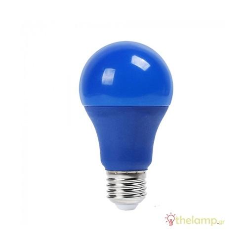 Led κοινή A60 9W E27 220-240V μπλε 7344 VT-2000 V-TAC