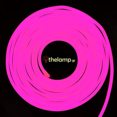 Led ταινία neon flex 24V 120led ροζ 2529 VT-555 V-TAC