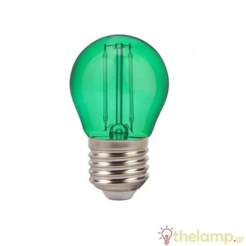 Led γλομπάκι filament G45 2W E27 240V πράσινο 7411 VT-2132 V-TAC
