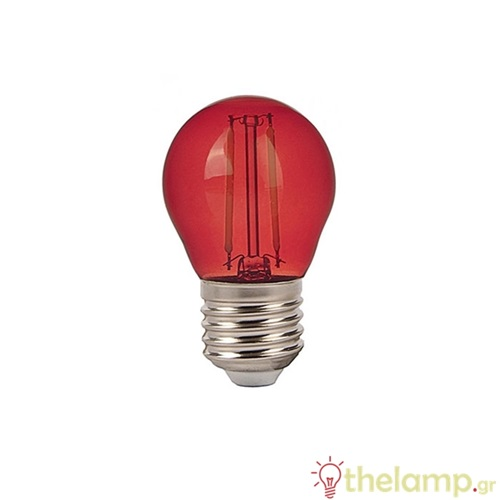 Led γλομπάκι filament G45 2W E27 240V κόκκινο 7413 VT-2132 V-TAC