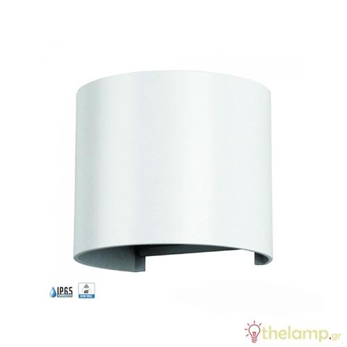 Led φωτιστικό τοίχου 6W 110-240V στρόγγυλο 10°-120° cool white 4000K λευκό 7091 VT-756 V-TAC