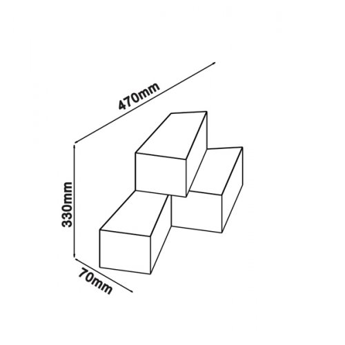 Led φωτιστικό τοίχου κύβοι 9W 240V 360° warm white 3000K λευκό 8221 VT-709 V-TAC