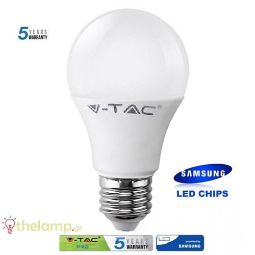 Led κοινή A65 17W E27 220-240V day light 6400K Samsung chip 164 VT-217 V-TAC