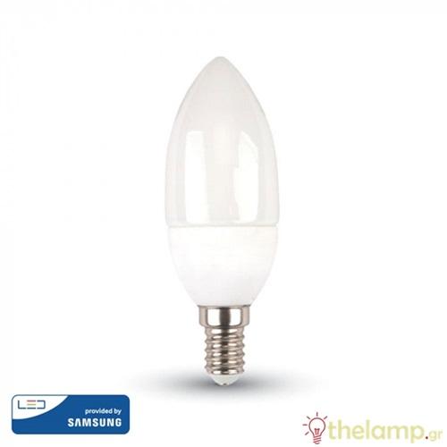 Led κερί 5.5W E14 220-240V 200° day light 6400K Samsung chip 173 VT-226 V-TAC