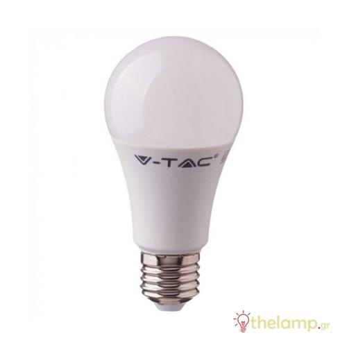 Led κοινή A58 9W E27 220-240V warm white 3000K Samsung chip 228 VT-210 V-TAC