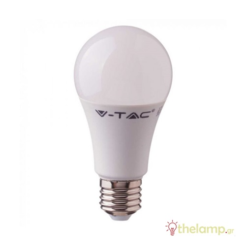 Led κοινή A58 9W E27 220-240V day light 6400K Samsung chip 230 VT-210 V-TAC