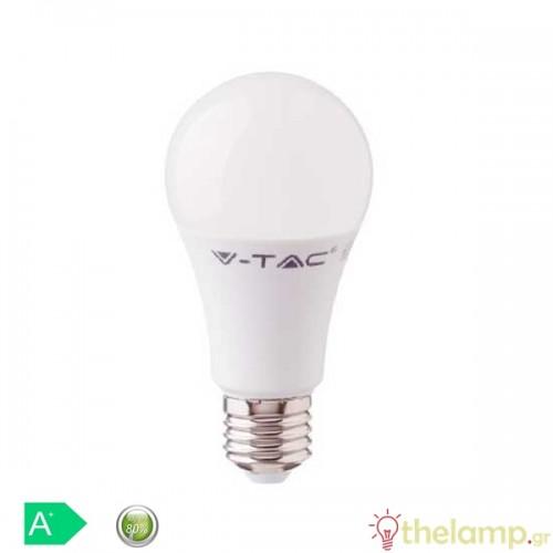 Led κοινή A58 11W E27 220-240V warm white 3000K Samsung chip 231 VT-212 V-TAC