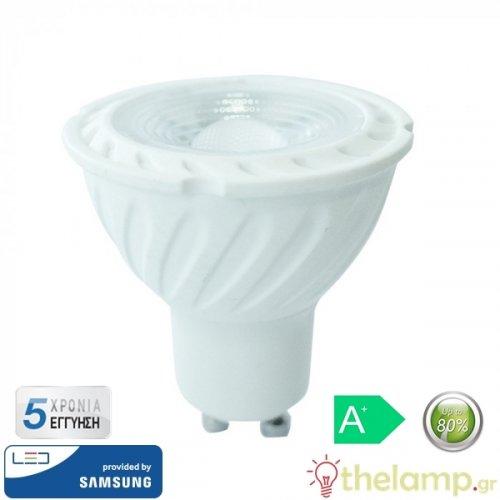 Led GU10 7W 220-240V 38° warm white 3000K Samsung chip 165 VT-277 V-TAC