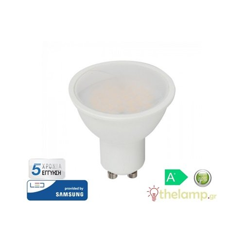 Led GU10 5W 220-240V 110° warm white 3000K Samsung chip 201 VT-205 V-TAC
